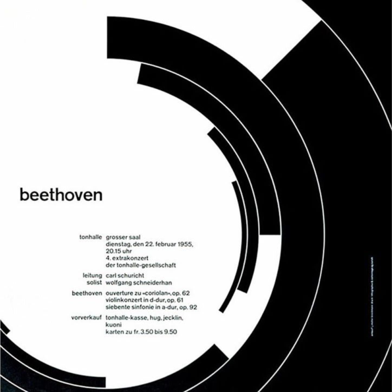 Beethoven poster by Josef-Müller Brockmann